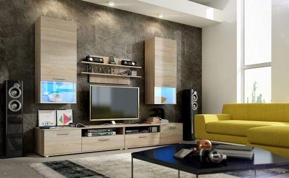 """Επιπλα - Σαλόνι:  Επιπλοσύνθεση tv  """"LUNA""""  2 Βιτρίνες  1 Φοριαμός 6 Συρτάρια ! από:  http://Vakis.gr/epiplo/saloni/"""