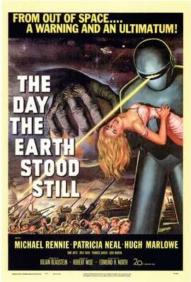 The Day the Earth Stood StillFilm, Old Movie Posters, Classic Movie, Scifi, Science Fiction, 1951, Favorite Movie, Sci Fi, Earth Stood