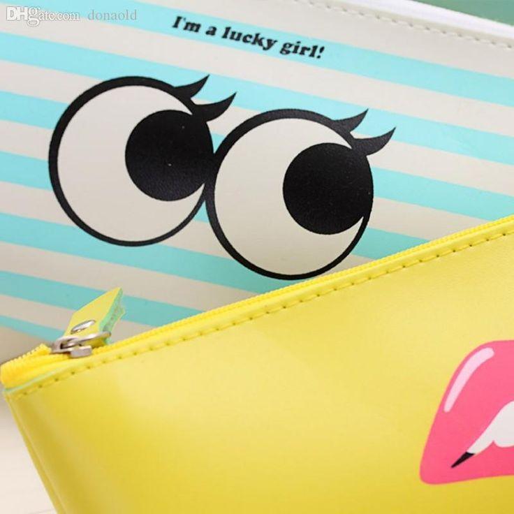 Encuentra el mejor al por mayor-girl moda moderna caja de lápices para las niñas de cuero de la pu linda útiles escolares papelería bolsas a…