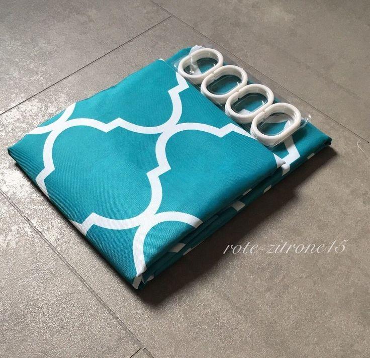 Duschvorhang 180x200cm Textil Vorhang Bad Dusche Badezimmer Stern Motiv Stoff  | eBay