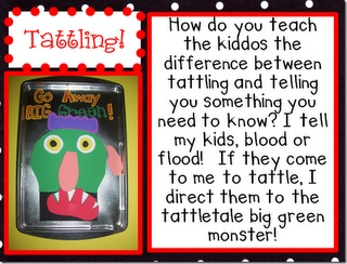 LOVE, LOVE, LOVE this!!!   I'm can't wait to make my own Big Green Tattletale Monster!!!