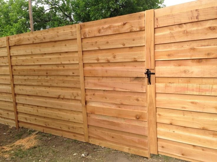Image result for board on board horizontal fence
