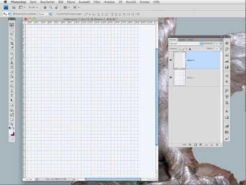 Ein kariertes Blatt mit Hilfe von Photoshop erstellen - YouTube