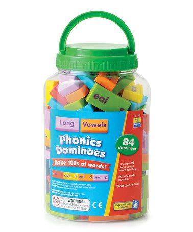 Take a look at this Long Vowel Phonics Dominoes on zulily today!