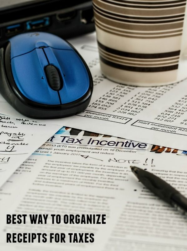 If you run your own business or work as an independent contractor or freelancer, one of the things you must do is determine the best way to organize receipts for taxes.