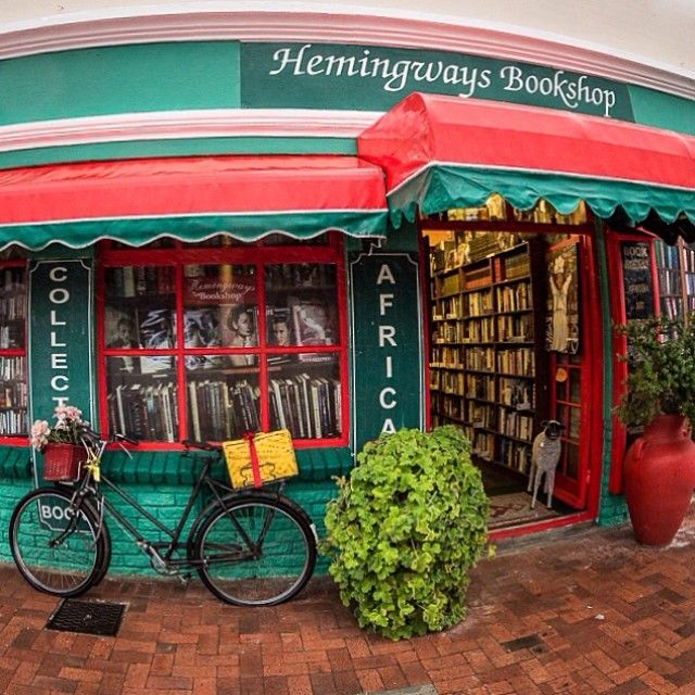 Hemingways Bookshop on Harbour Road in #Hermanus is a crazy mix of queer and cool, stacked with first editions of books you wish you had on your shelf. I could have spent all day there. #books #fisheye
