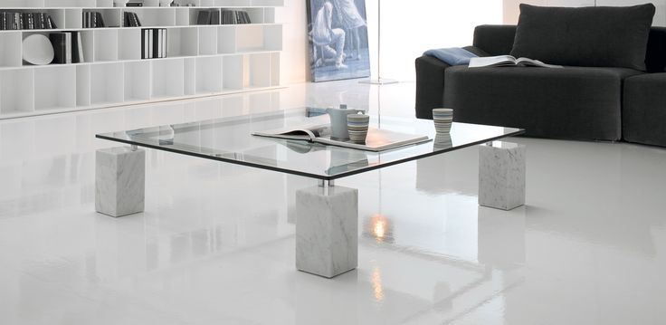 Dielle konferenční stolek / glass coffee table