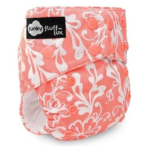 Chantilly Lace- Funky Fluff 3 in 1 diaper: AIO, AI2, and pocket diaper