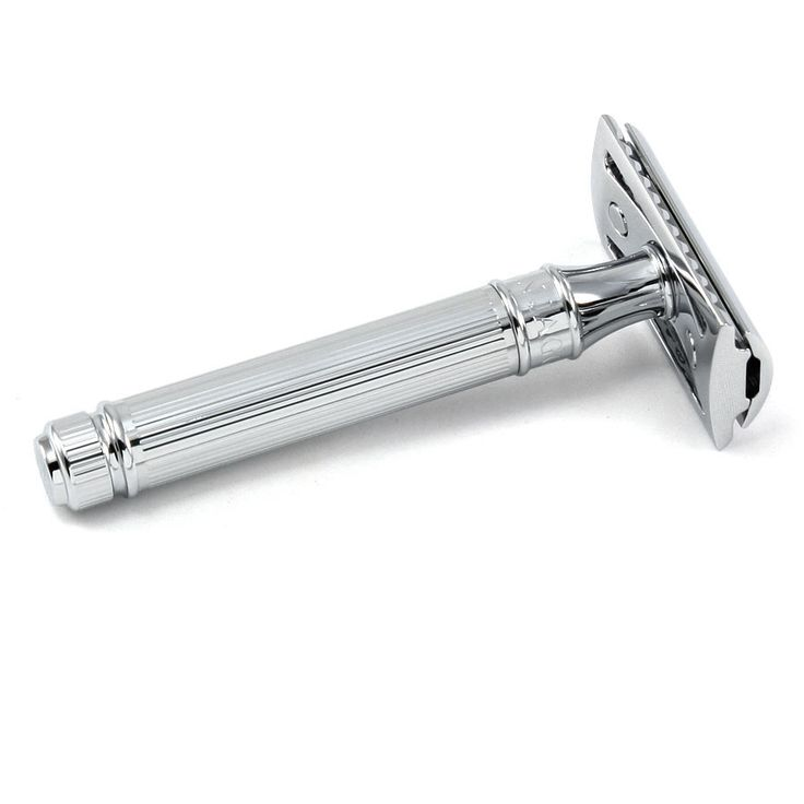Edwin Jagger DE89L Classic Double-Edge Safety Razor, Lined Chrome Plating - Fendrihan Canada - 2