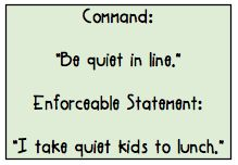 enforceable statements vs. commands - a slight change can make all the difference