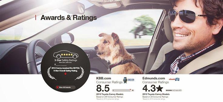 2014 Toyota Camry Safety, Awards