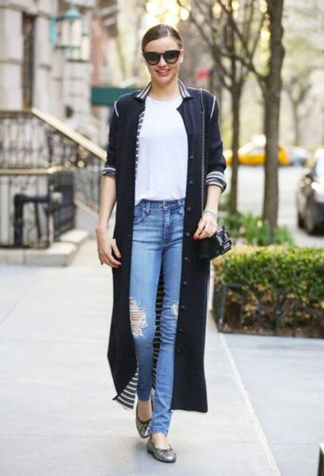 ロングカーディガンの着こなしはミランダ・カーに学べ♡風に揺れる裾が美しさを引き立たせます♡ロングカーディガンのモテコーデ一覧まとめ♡人気・おすすめのロングカーディガン♡
