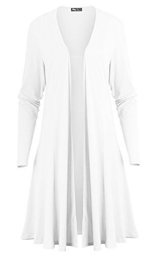 Special Offer: $21.99 amazon.com ililily Women V-neck Open Front Stretch Jersey Cardigan Maxi Drape Hem Jacket Style: long sleeve open front flare longline knee length drape cardigan jacket top IN VARIOUS COLORS Design detail: solid color v-neck open front drape shawl longline casual...