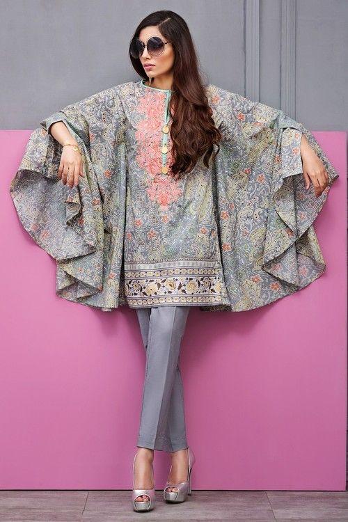 Khaadi 2 Piece Stitched Embroidered Lawn Suit - I17109-B - Grey - libasco.com #khaadi #khaadionline #khadiclothes #khaadi2017 #kaadisummer