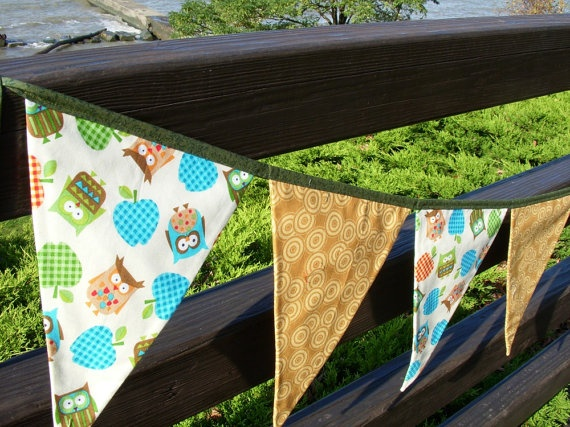 owl fabric banner