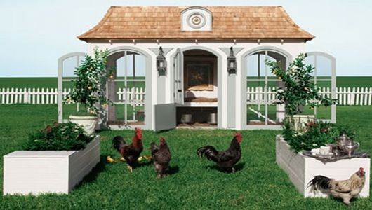Beau Coop, a $100,000 chicken coop from Neiman Marcus.  ---------------------------  Crazy price!- TD.