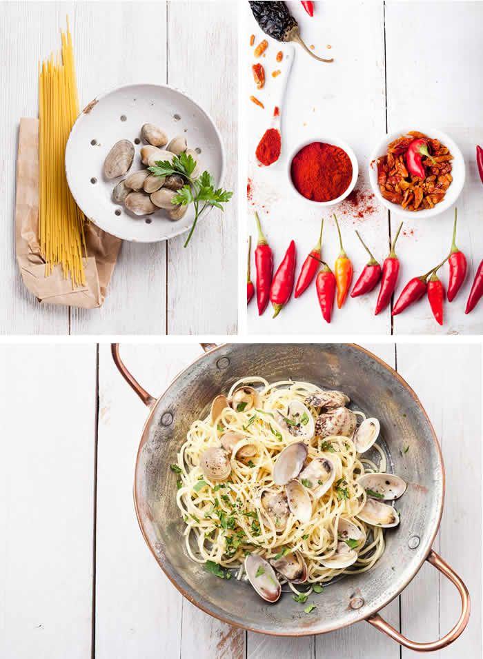 Spaghetti alle vongole veraci e peperoncino.