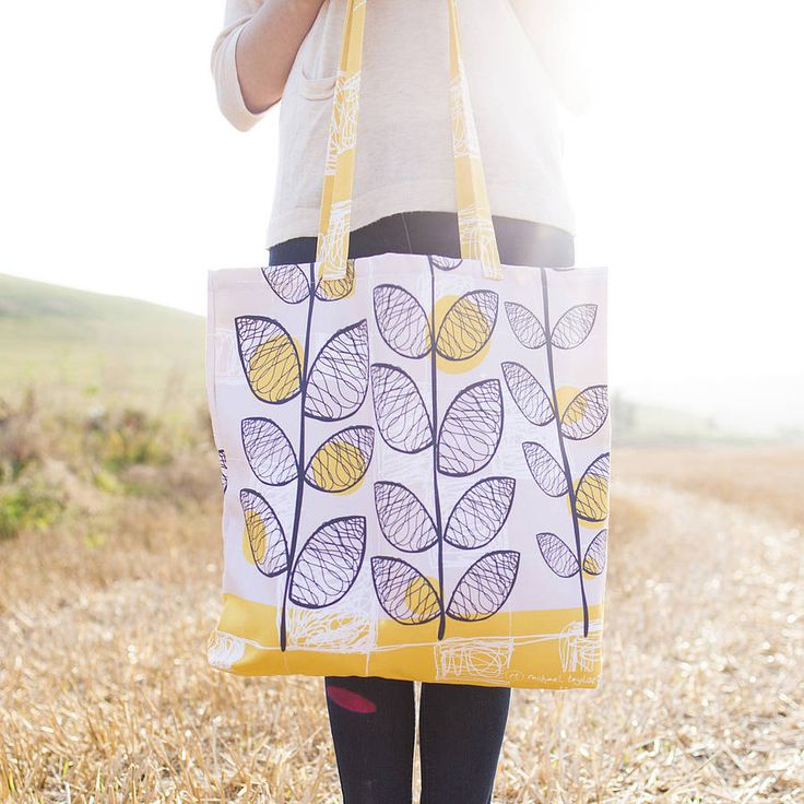 50s inspired canvas shopper bag by rachael taylor | notonthehighstreet.com