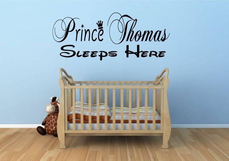 Naamsticker prince jouw naam sleeps here muursticker deursticker