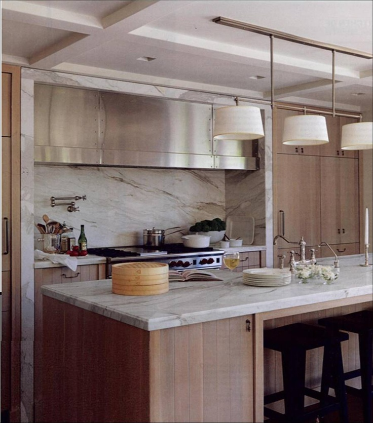 The Calcutta Gold Marble Counter And Backsplash   As Pretty As It Gets The  Island At