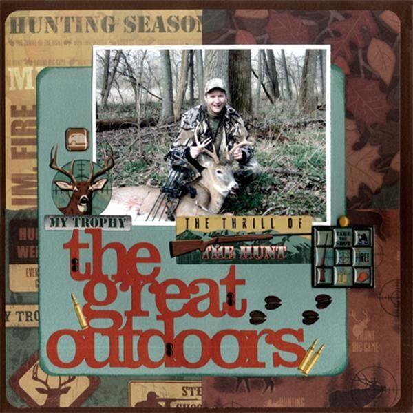 Hunting Layout by Karen Foster Design