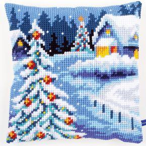 Winter Scenery - Cross-stitch cushion - Vervaco