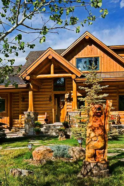 118 best images about mountain rustic on pinterest for Custom mountain homes