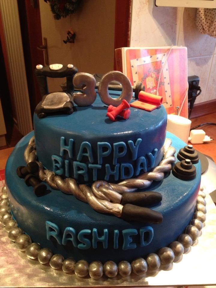 A cake for a gym fanatic.
