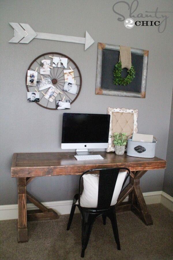 17 best ideas about build a desk on pinterest long desk. Black Bedroom Furniture Sets. Home Design Ideas