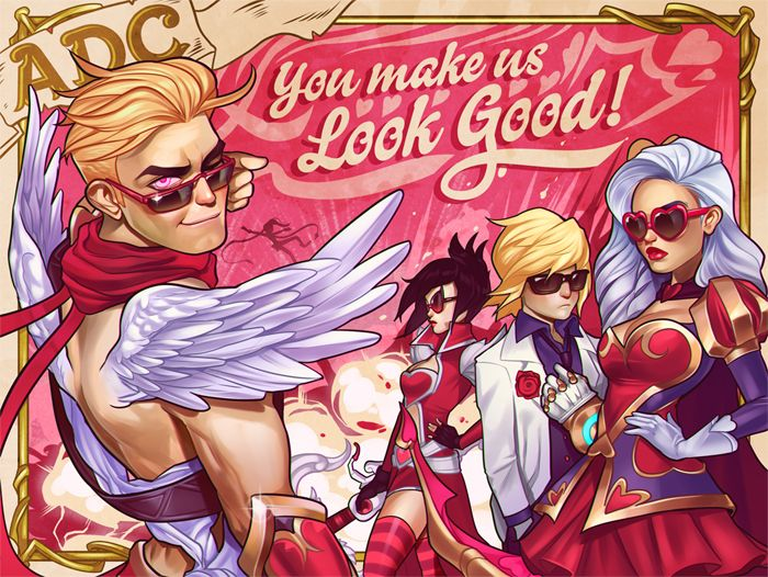 League of Legends Valentine's day card: ADC