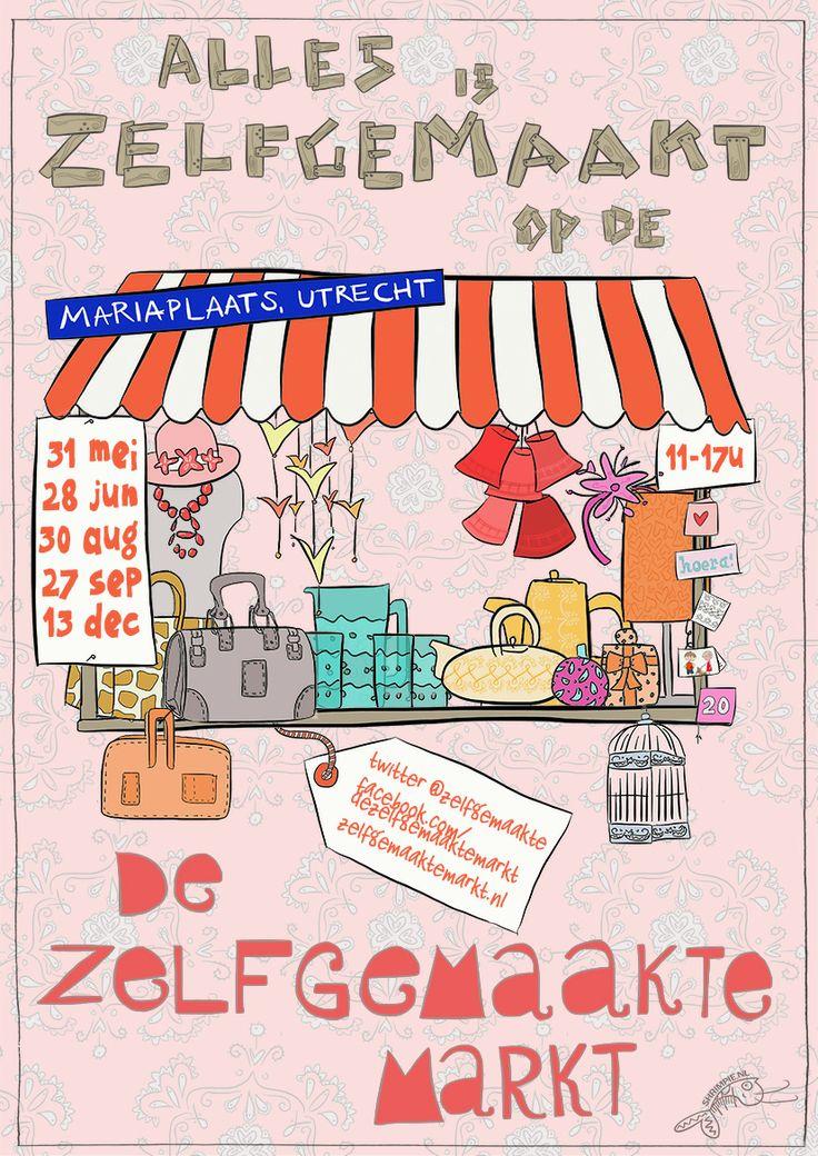 Zelfgemaakte Markt poster ontwerpwebstrijd 2014! Inzending van Loes Suurenbroek.   Stemmen kan nog tot 15 maart '14 via facebook.