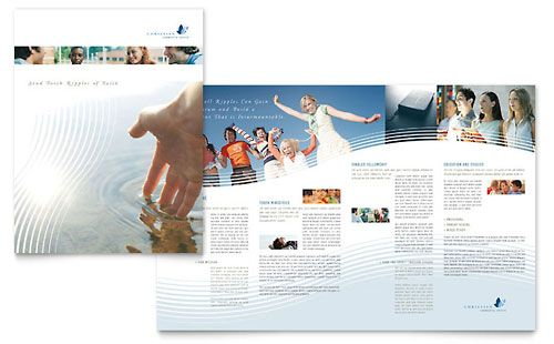 Microsoft Publisher Brochure Template; like the white text box interacting with the image