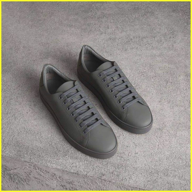Striped Men's Leather Sneakers. Trying