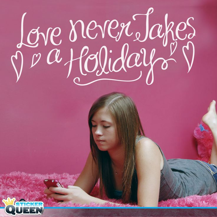 Love never takes a holiday