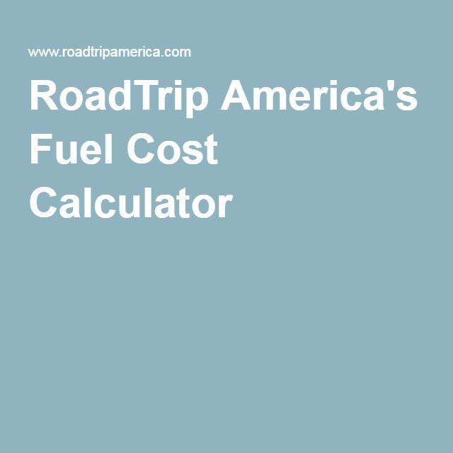 RoadTrip America's Fuel Cost Calculator