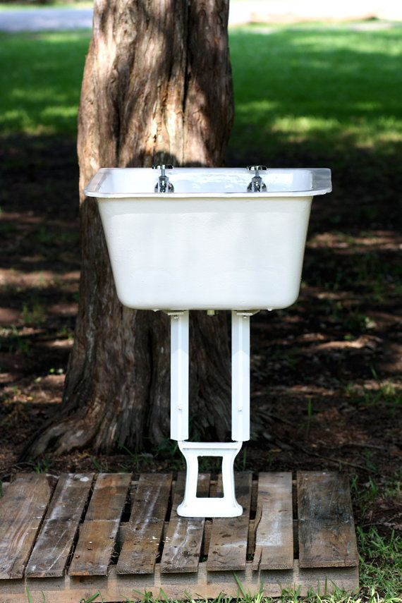 Hey, I found this really awesome Etsy listing at https://www.etsy.com/listing/197767327/1920s-cast-iron-farmhouse-utility-sink