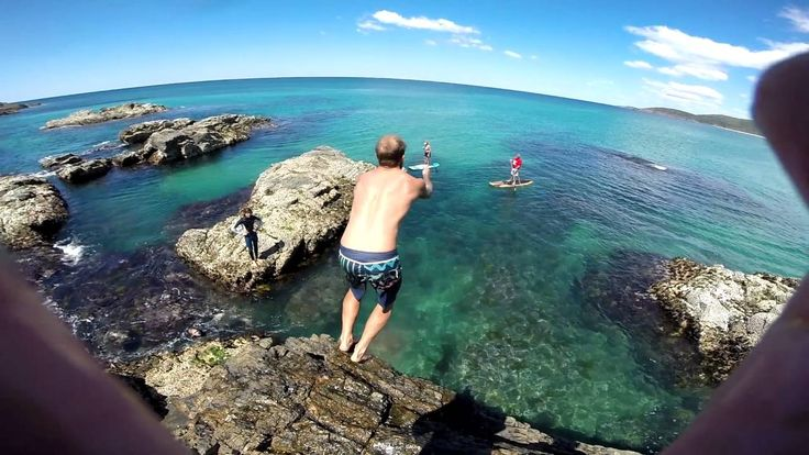 Fun near Crescent Head. Rock Jumping at Delicate Knobby # CrescentHeadAccomodation #funinthesun #delicateknobby https://youtu.be/sBNnz7gtUuU