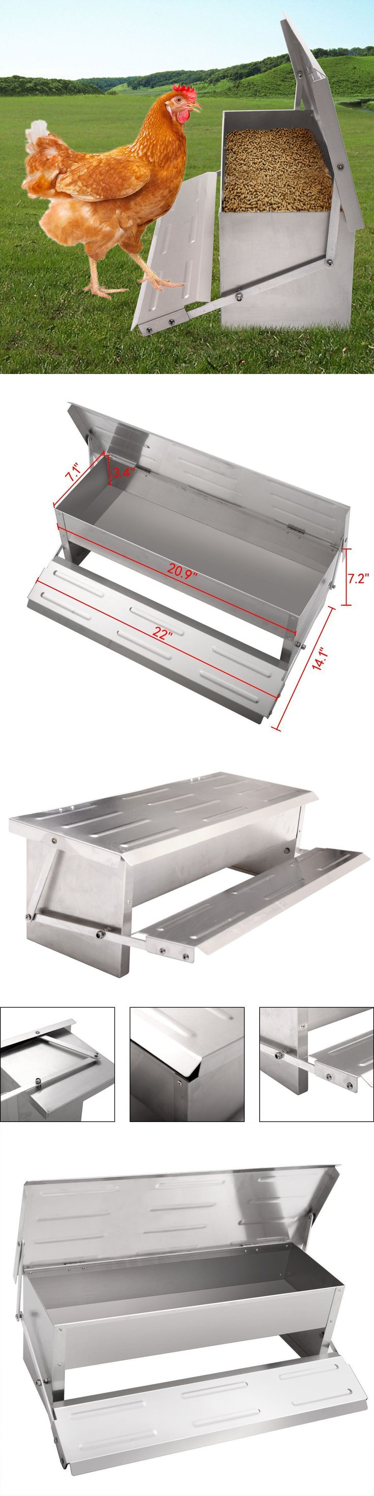 Backyard Poultry Supplies 177801: Chicken Feeder Automatic Treadle Self Open Aluminium Feed Chook Poultry -> BUY IT NOW ONLY: $51.98 on eBay!