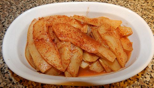 "Ideal Protein Phase 1 Baked Caramel Chayote ""Apples"" O.M.G. these are so delicious!!!!!!!!!!!!!!!"