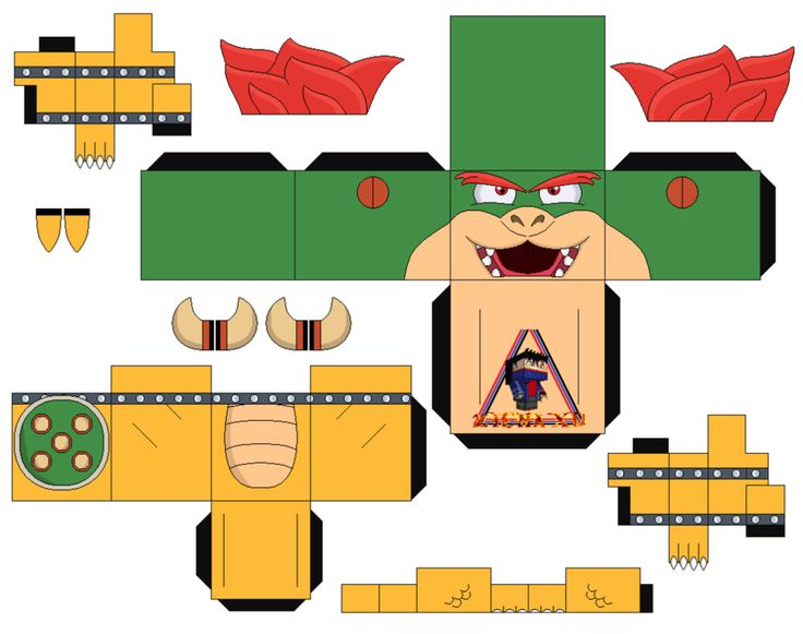 Bowser Mario Bros 2 - cubeecraft / papercraft by MarcoKobashigawa on DeviantArt