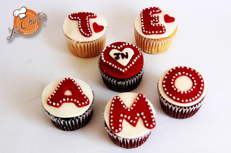 Cupcakes Te Amo #love #loschatos #Cupcakes #amor #pastelitos #PuertoVallarta