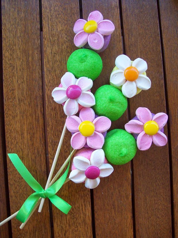Marshmallows και κουφετάκια για τα ανοιξιάτικα λουλούδια μας !