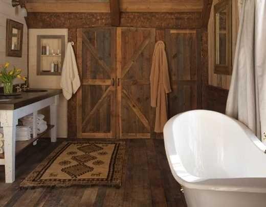 Wooden Barn Doors Interior For Bathroom