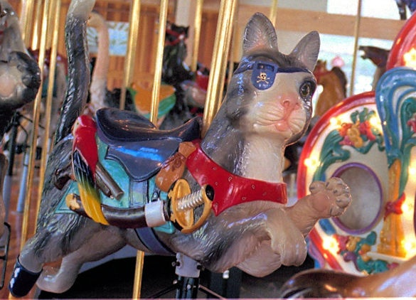 Richland Carrousel Park Carrousel  Carousel Works Cat Jumper: Carousels Work, Work Cat, Carousels Hors, Pirates Cat, Parks Carrousel, Parks Carousels, Cat Jumpers, Carrousel Parks, Carrousel Carousels
