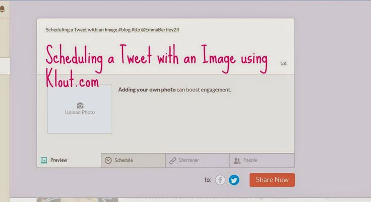 Scheduling Tweets With an Image
