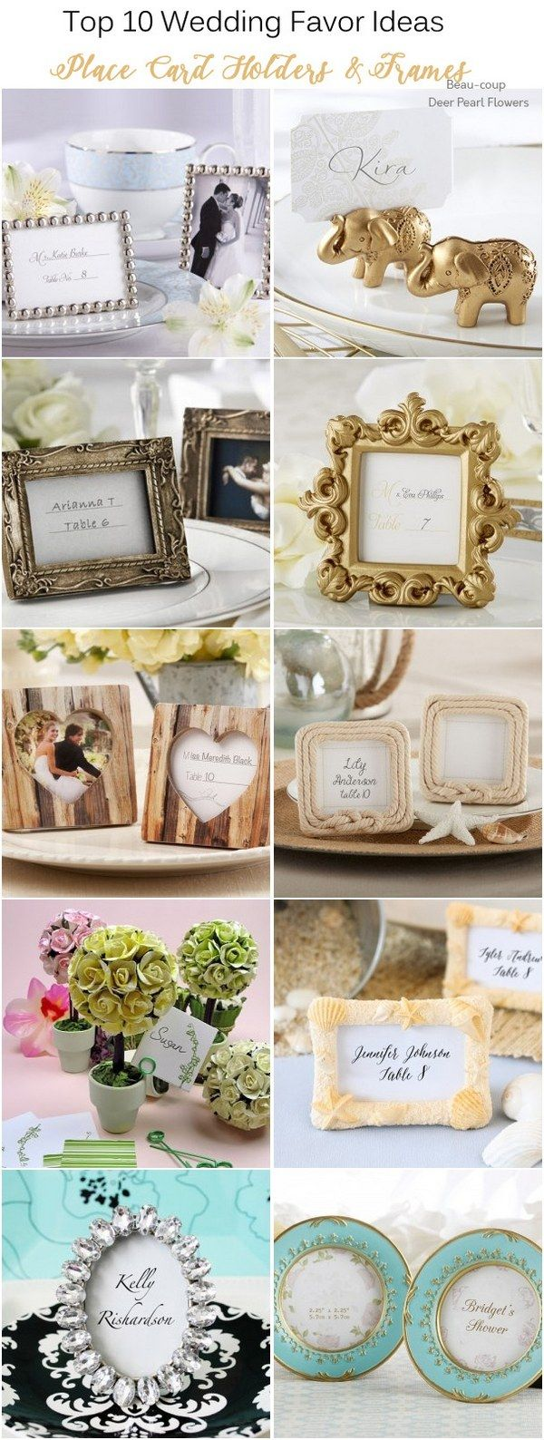 silver heart wedding place card holders%0A Top    Wedding Favor Ideas that Your Guests Will Actually Like  Wedding  Place Card HoldersWedding