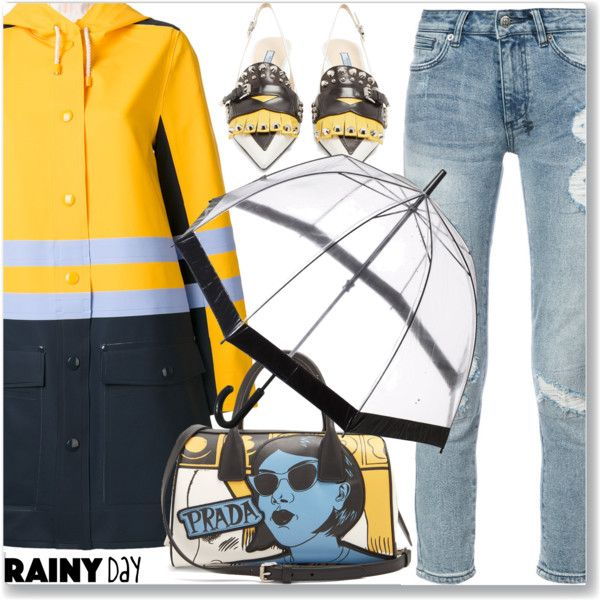 Street Style, Rainy Day Outfit by jecakns on Polyvore featuring Marni, Ksubi, Prada and Fulton