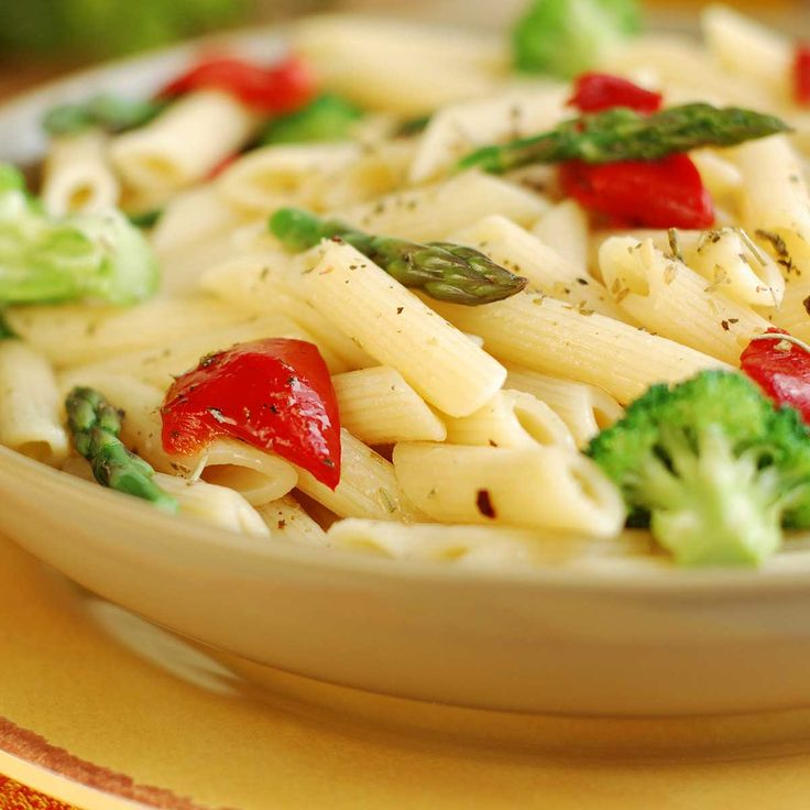 Pasta with Spring Vegetables #recipe by Wozupi Tribal Gardens.