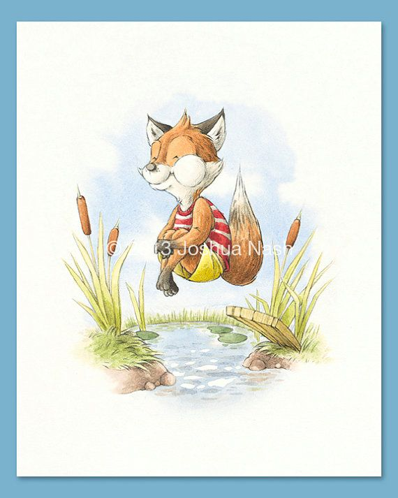 A Fox for all Seasons  A Fox in Summer 8 x 10 by NashIllustrations, $35.00