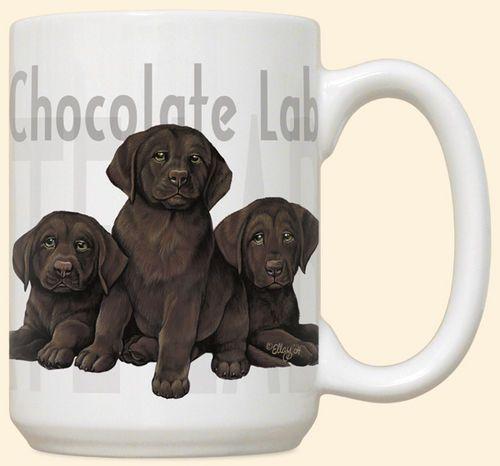 Chocolate Lab Puppies Mug